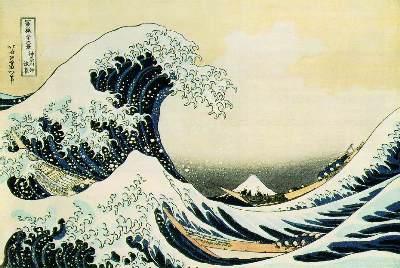 Tsunami, by Hokusai